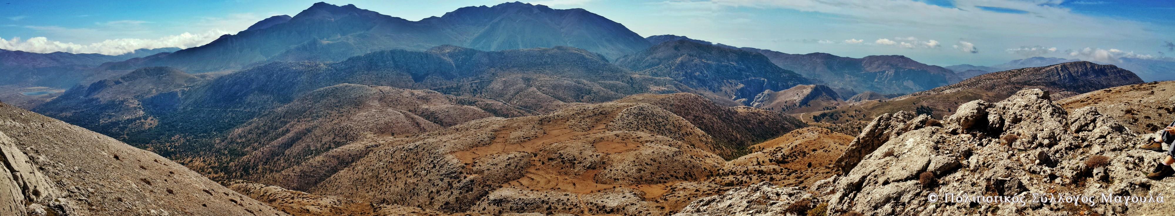 Η θέα της Δίκτης από την Κορφή της Μάχας- The view of mount Dikti from Maha's peak