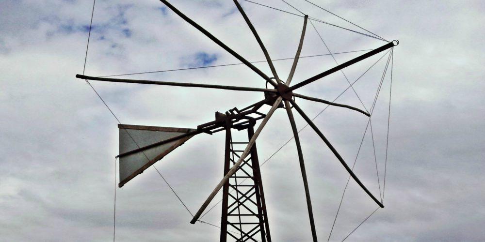 Το πάνω μέρος του ανεμόμυλου που χρησιμοποιούσαν στον κάμπο- The upper part of the windmill that was used in agricultural work