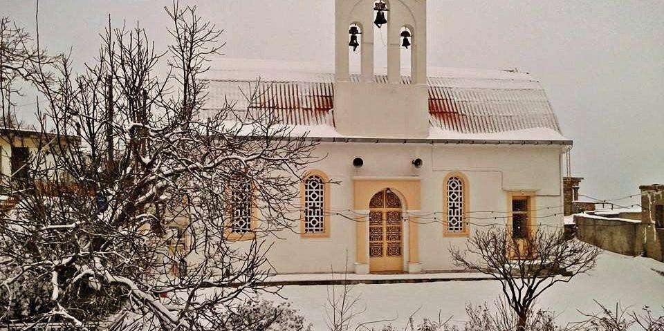 Χιονισμένος Άγιος Σπυρίδωνας- Snow in St Spiridon