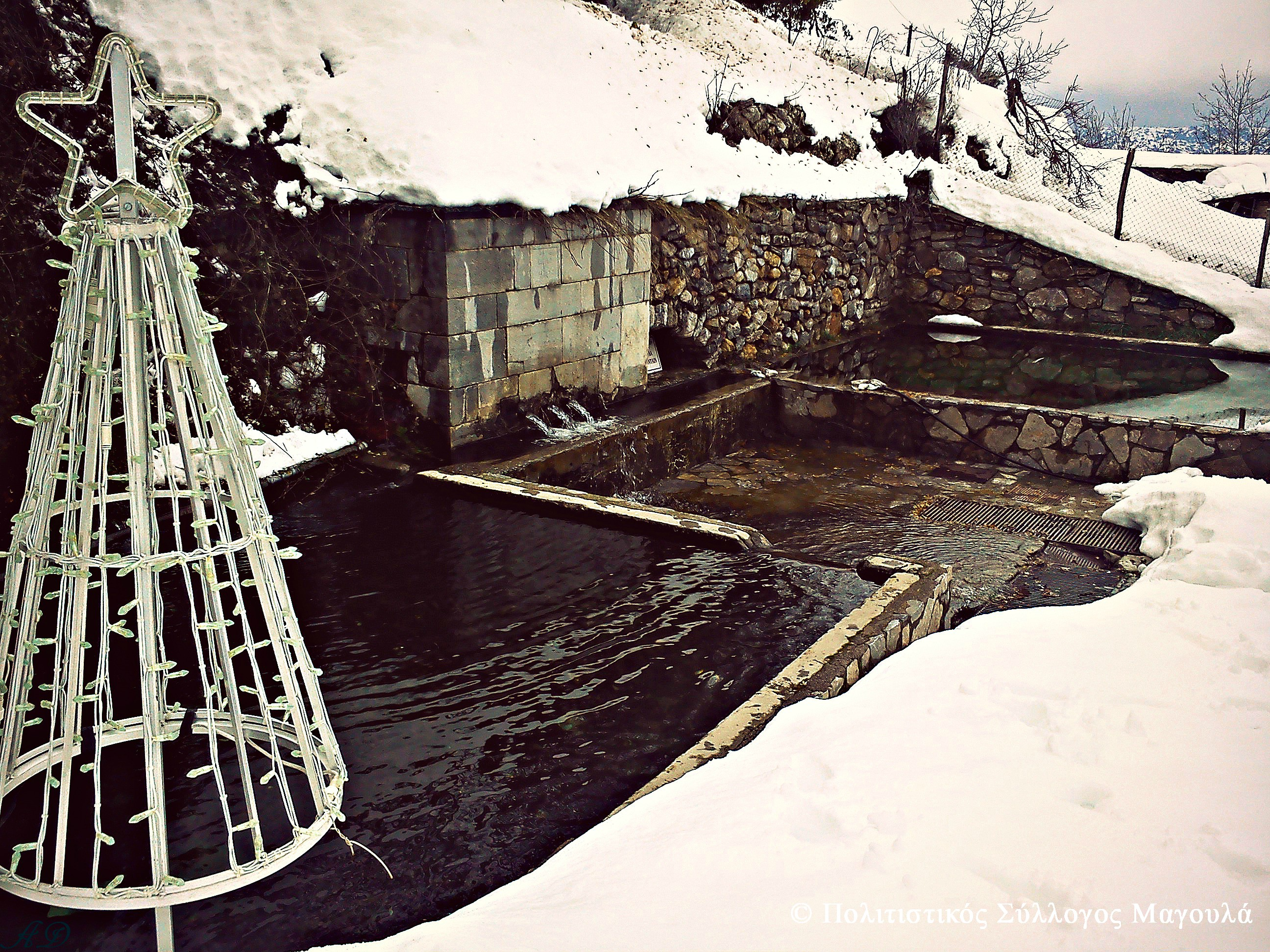 Η Μεγάλη Βρύση με χιόνια