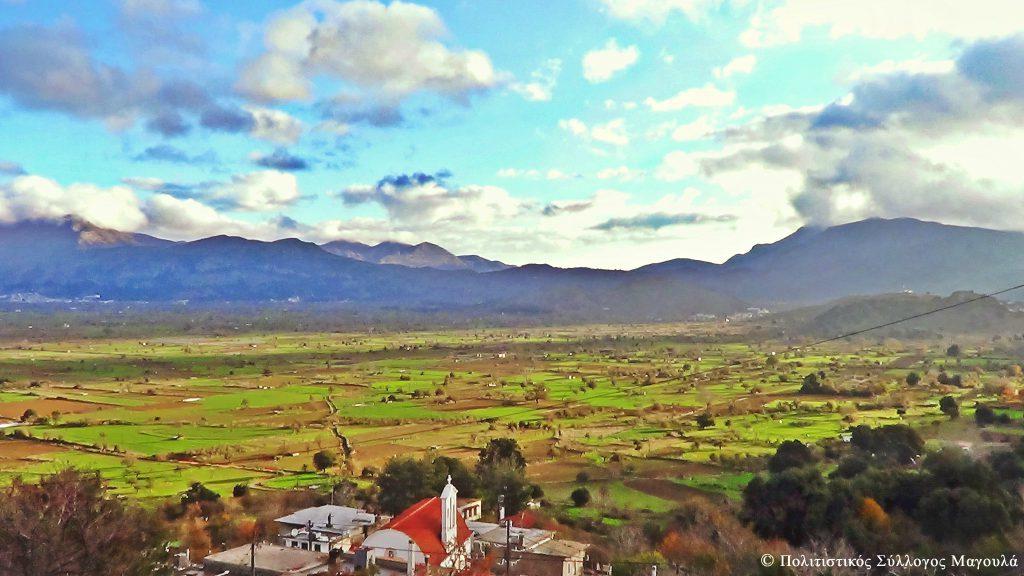Η θέα του λασιθιώτικου κάμπου από το Μαγουλά