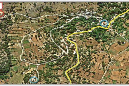 Τοποθεσία εκκλησιών Αγίου Αντωνίου και Αγίας Μαρίνας στο χάρτη